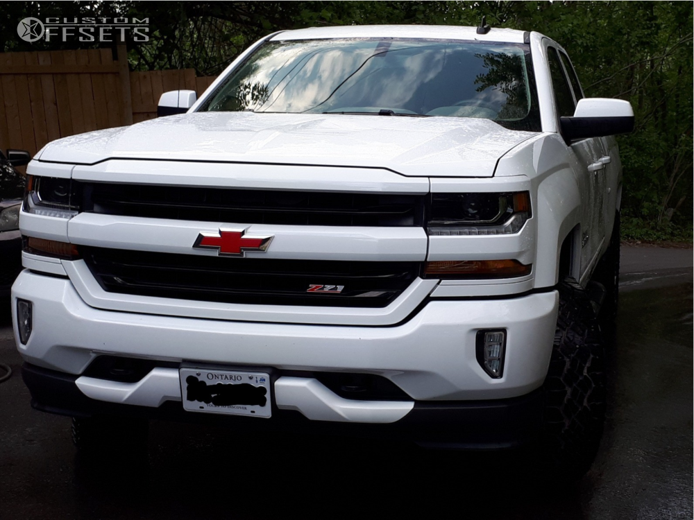 1 2016 Silverado 1500 Chevrolet Readylift Leveling Kit Alloy Ion Style 141 Machined Black