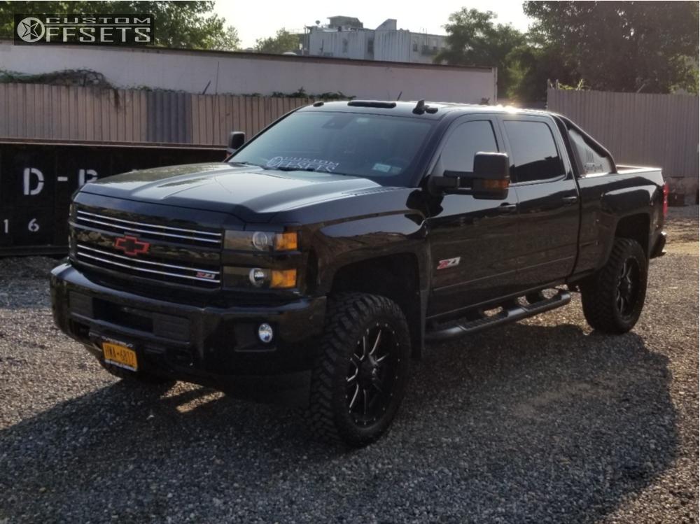 1 2017 Silverado 2500 Hd Chevrolet Rough Country Leveling Kit Fuel Maverick D536 Black