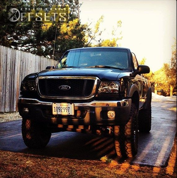 Wheel Offset 2004 Ford Ranger Slightly Aggressive Body
