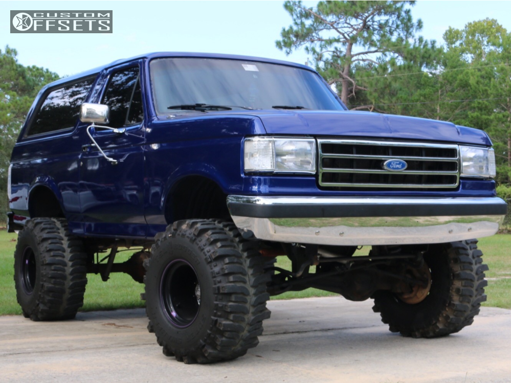 1 1990 Bronco Ford Rough Country Suspension Lift 6in Bart Super Trucker Black