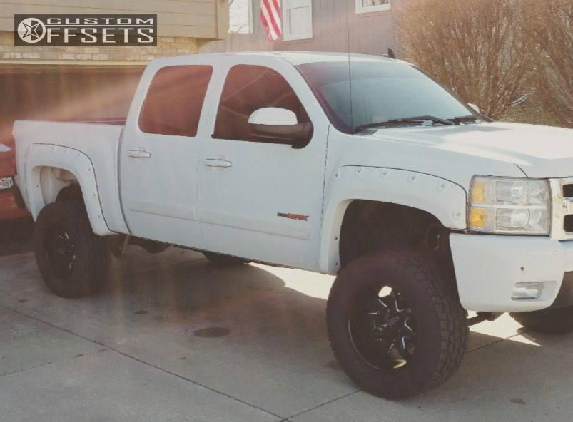 1 2007 Silverado 1500 Chevrolet Suspension Lift 75 Alloy Ion M18 Matte Black Aggressive 1 Outside Fender