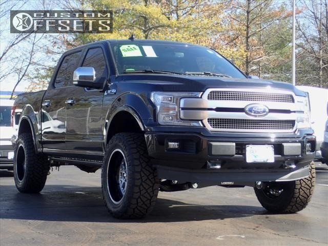 1 2018 F 150 Ford Fab Tech Suspension Lift 4in Fuel Forged Ff19 Black