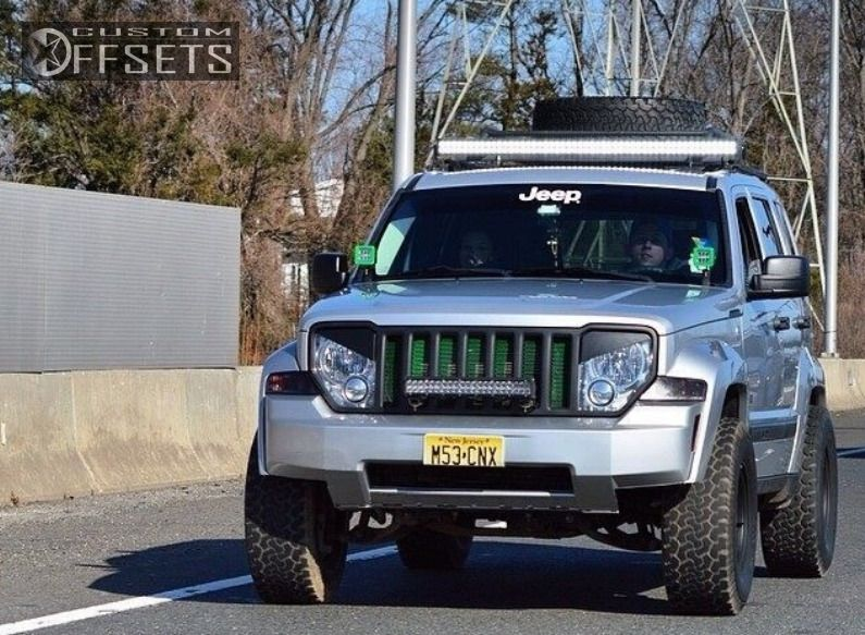 ... 3 2009 Liberty Jeep Suspension Lift 4 Cragar D Window Black Aggressive  1 Outside Fender ...