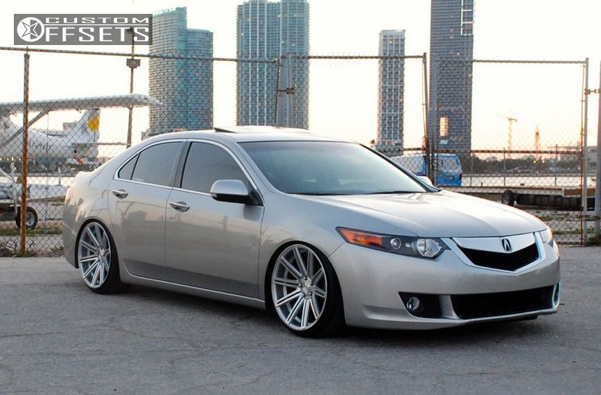 2009 Acura Tsx Vossen Cv4 Lowered On Springs
