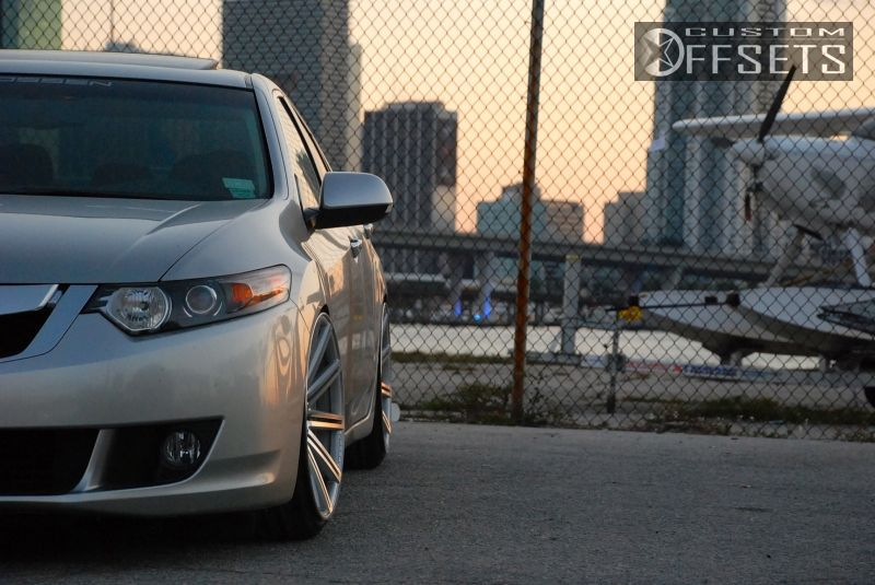 Wheel Offset 2009 Acura Tsx Hellaflush Dropped 3 Custom Rims