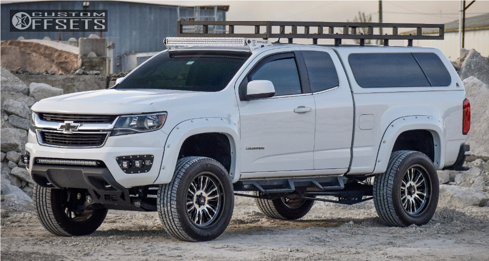 1 2016 Colorado Chevrolet Rough Country Suspension Lift 6in Mamba M21 Machined