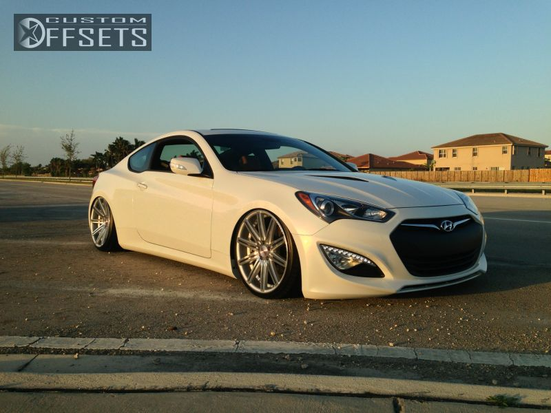 Wheel Offset 2013 Hyundai Genesis Coupe Slightly Aggressive Bagged