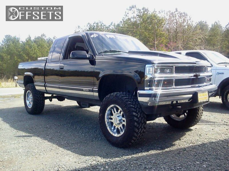 1 1998 C K 1500 Series Chevrolet C1500 Silverado 2dr Extended Cab Sb Suspension Lift 6 Moto Metal N A Chrome Slightly Aggressive