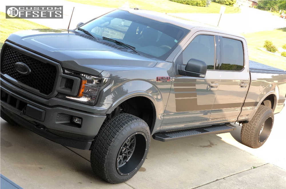 1 2018 F 150 Ford Rough Country Suspension Lift 4in Vision Rocker Anthracite