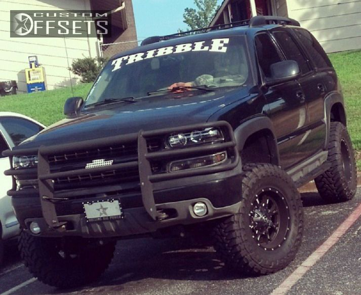 1 2003 Tahoe Chevrolet Suspension Lift 6 Fuel Krank Black Aggressive 1 Outside Fender