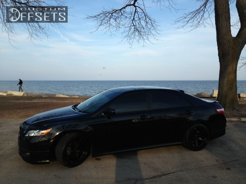 2 2007 Camry Toyota Se 4dr Sedan 35l 6cyl 6a Dropped 1 3 Enkei Kojin Black Gunmetal Flush