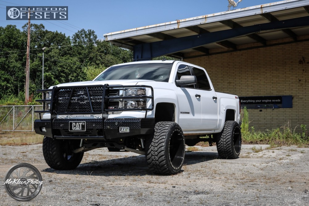 1 2014 Silverado 1500 Chevrolet Rough Country Suspension Lift 7in Xtreme Mudder Xm 304 Black