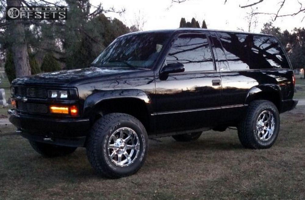 1 1999 Tahoe Chevrolet Leveling Kit Fuel 536 Chrome Hellaflush
