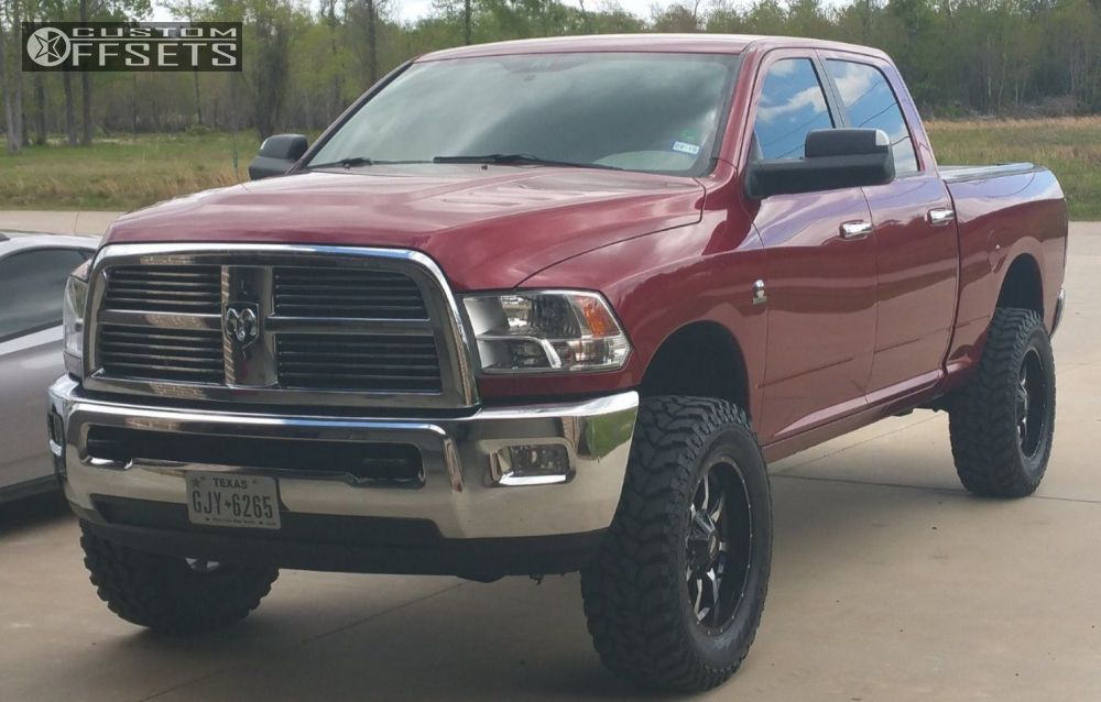 1 2012 2500 Ram Suspension Lift 3 Moto Metal Mo970 Machined Accents Aggressive 1 Outside Fender