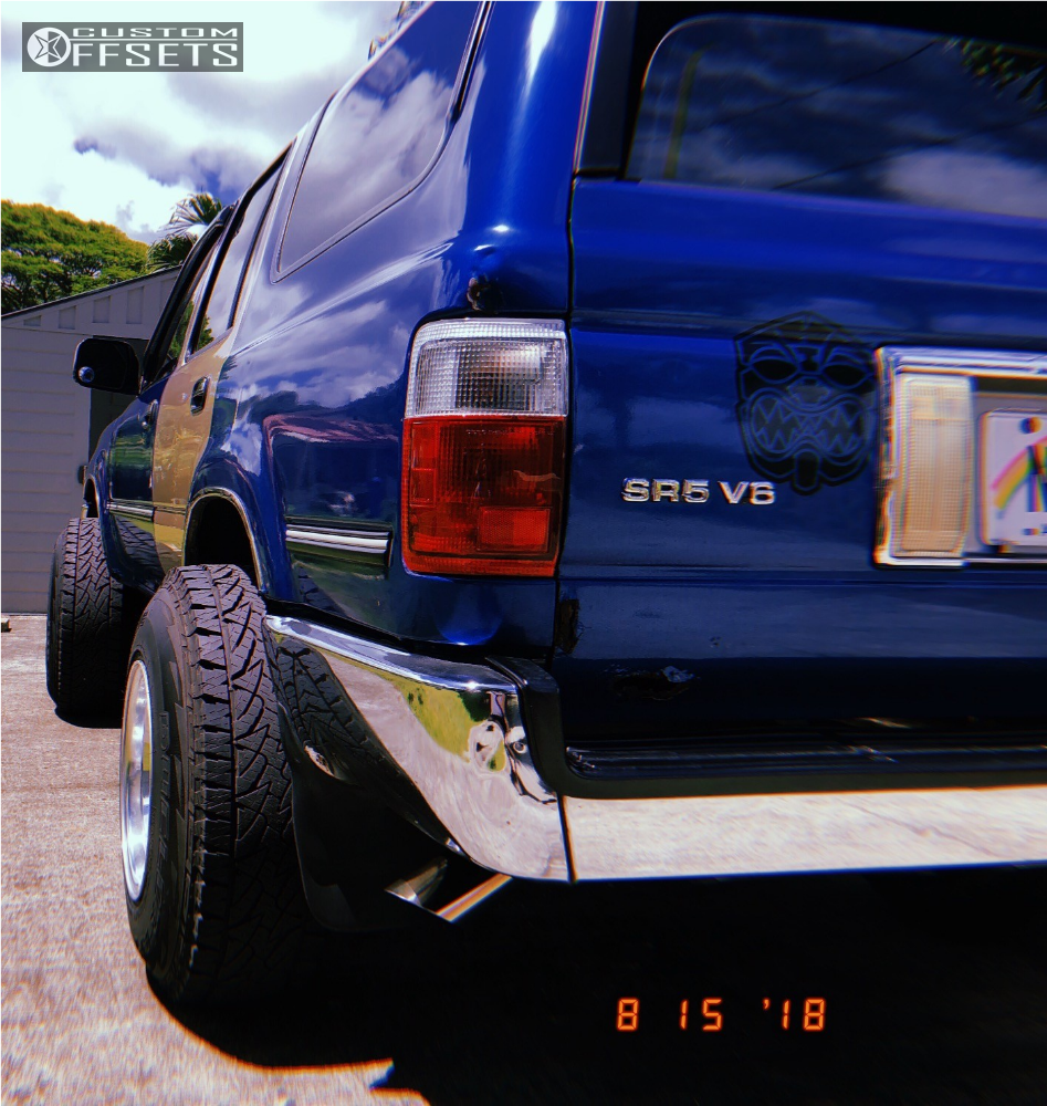 1992 Toyota 4runner Mickey Thompson Classic Iii Stock Offsets Running Boards 3 Polished