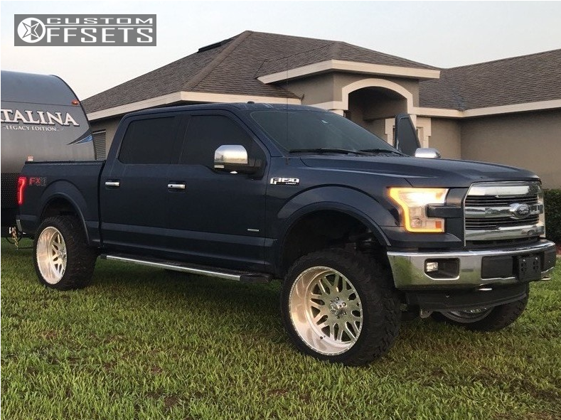 1 2015 F 150 Ford Mcgaughys Suspension Lift 65in American Force Trax Ss Polished