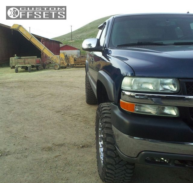 Wheel Offset 2001 Chevrolet Silverado 2500 Hd Hellaflush