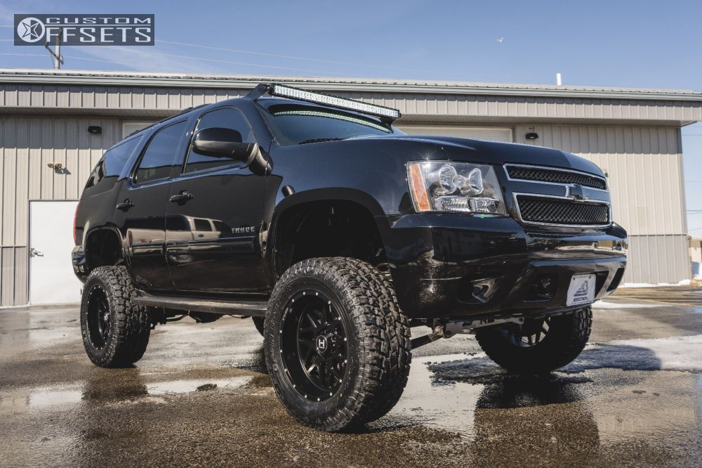 1 2011 Tahoe Chevrolet Suspension Lift 75 Hostile Sprocket Black Aggressive 1 Outside Fender