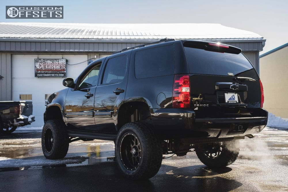4 2011 Tahoe Chevrolet Suspension Lift 75 Hostile Sprocket Black Aggressive 1 Outside Fender