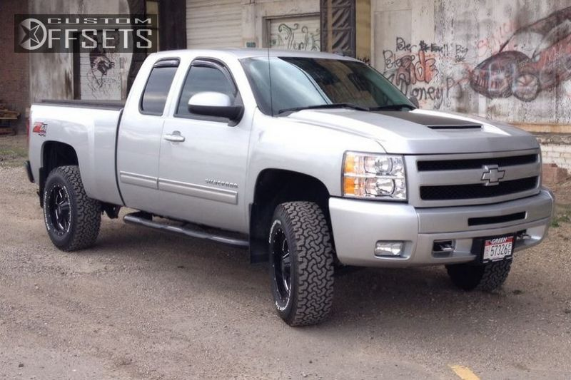 1 2011 Silverado 1500 Chevrolet Suspension Lift 3 Moto Metal 962 Black Nearly Flush