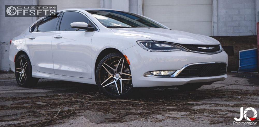 Wheel Offset 2015 Chrysler 200 Nearly Flush Stock Custom Rims Custom