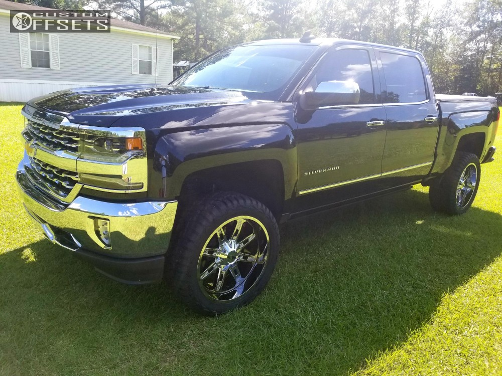1 2018 Silverado 1500 Chevrolet Superlift Suspension Lift 35in Alloy Ion Style 184 Chrome