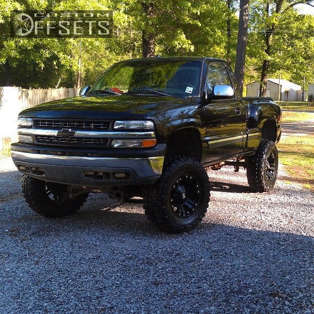 Wheel Offset 2001 Chevrolet Silverado 1500 Aggressive 1