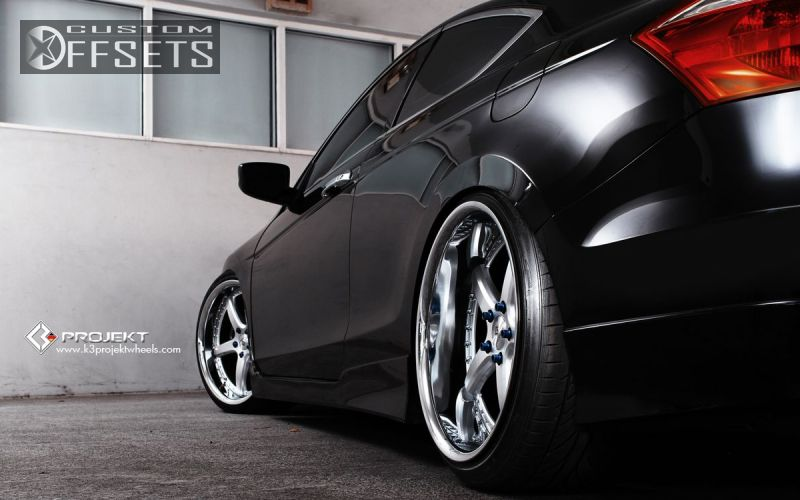 Wheel Offset 2010 Honda Accord Flush Dropped 3 Custom Rims