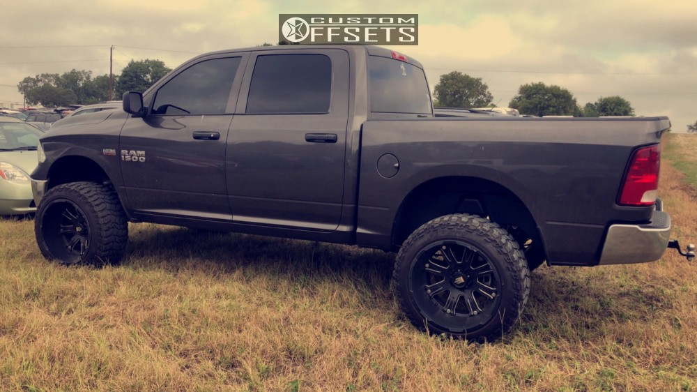 1 2018 1500 Ram Rough Country Suspension Lift 6in American Truxx Bomb Black