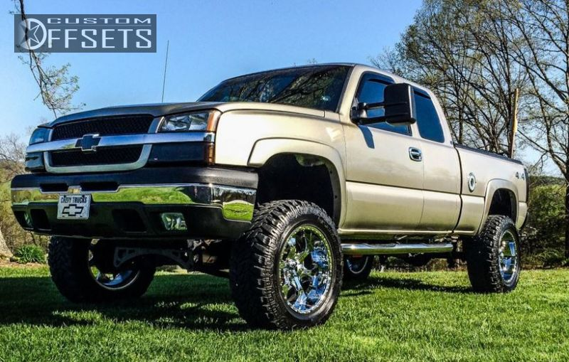 1 2003 Silverado 1500 Chevrolet Suspension Lift 6 Helo 791 Chrome Aggressive 1 Outside Fender