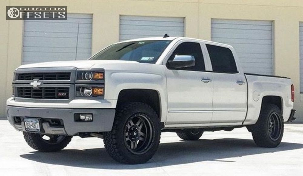 1 2014 Silverado 1500 Chevrolet Level 2 Drop Rear Fuel Anza Gunmetal Aggressive 1 Outside Fender