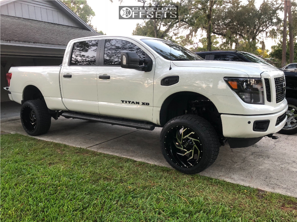 1 2018 Titan Xd Nissan Rough Country Suspension Lift 6in Twisted Offroad Vixon Machined Black