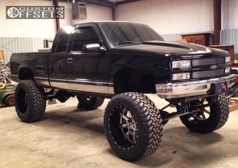 1 1998 K1500 Chevrolet Lifted 9 Fuel Maverick Custom Aggressive 1 Outside Fender