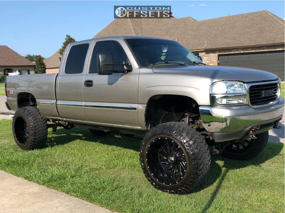 2002 gmc sierra 1500 american truxx striker fabtech suspension lift 6 body 3 custom offsets 2002 gmc sierra 1500 american truxx