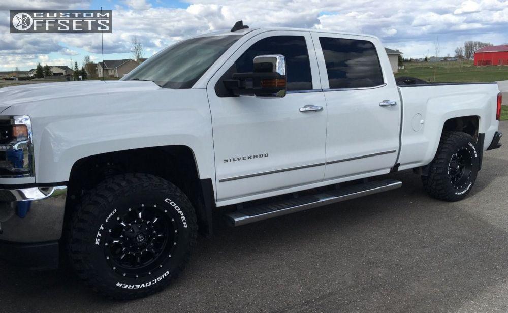 Chevy Silverado Custom Wheels >> Wheel Offset 2016 Chevrolet Silverado 1500 Aggressive 1 Outside