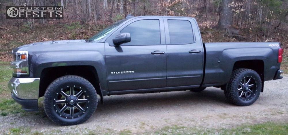 1 2016 Silverado 1500 Chevrolet Leveling Kit Fuel Maverick Machined Black Flush