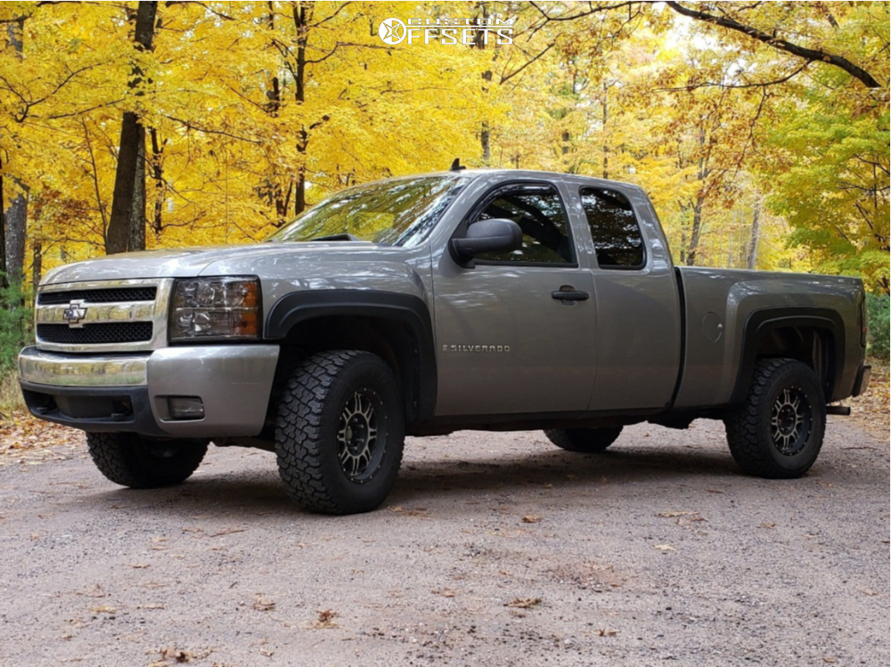 1 2008 Silverado 1500 Chevrolet Rough Country Leveling Kit Ion Alloy Style 183 Machined Accents