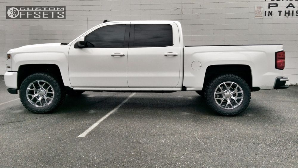 Biggest Tire On Stock >> Wheel Offset 2016 Chevrolet Silverado 1500 Leveling Kit