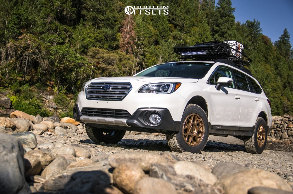 2017 Subaru Outback Kmc Km708 Readylift Lifted Custom Offsets