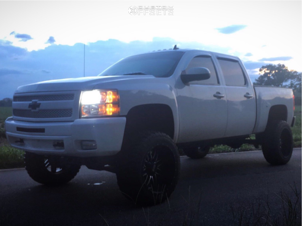 1 2010 Silverado 1500 Chevrolet Rough Country Suspension Lift 75in Twisted Offroad Billet Machined Black