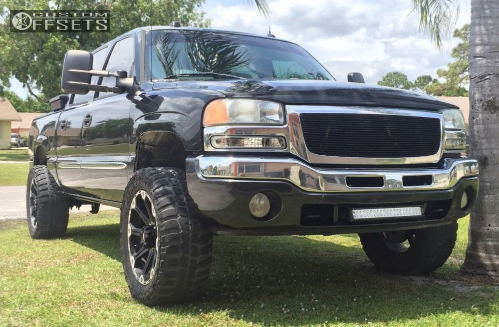 1 2005 Sierra 1500 Gmc Suspension Lift 45 Dick Cepek Torque Machined Black Super Aggressive 3 5