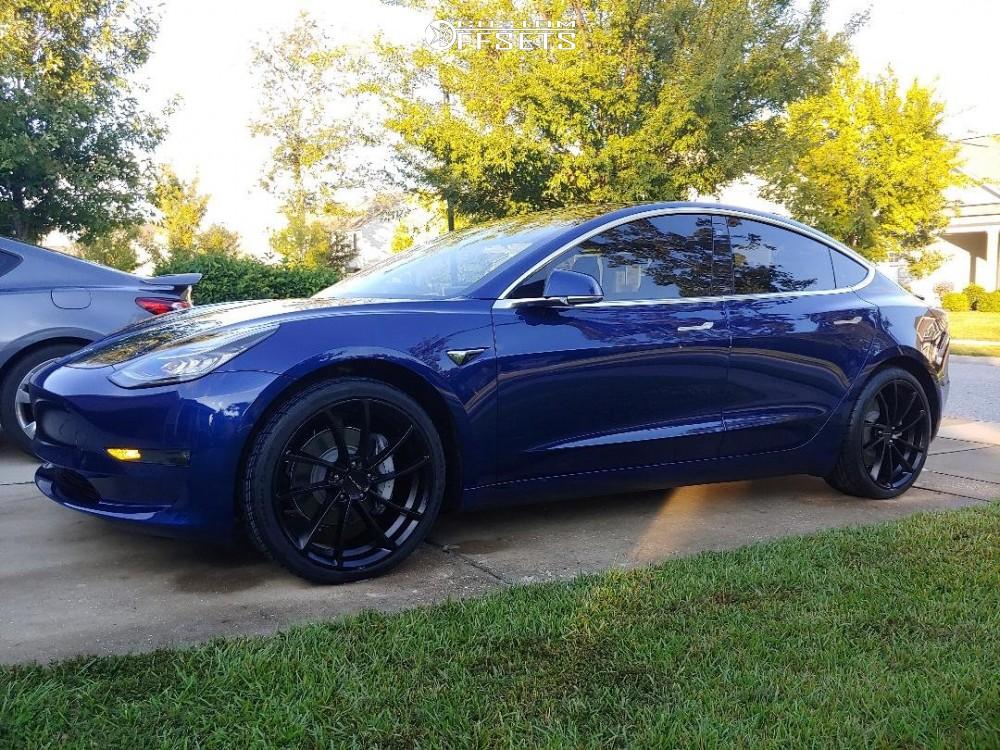2018 Tesla 3 Kmc Km691 Stock Stock | Custom Offsets