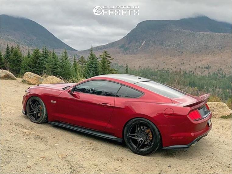 Mustang Ford Gt Premium Eibach Lowering Springs Stance Sf  Black
