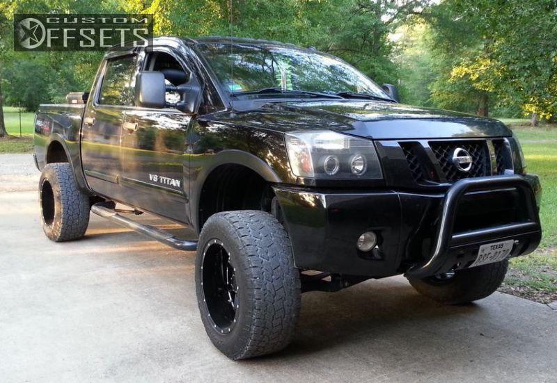3 2011 Titan Nissan Suspension Lift 6 Gear Alloy Big Block Black Super Aggressive 3