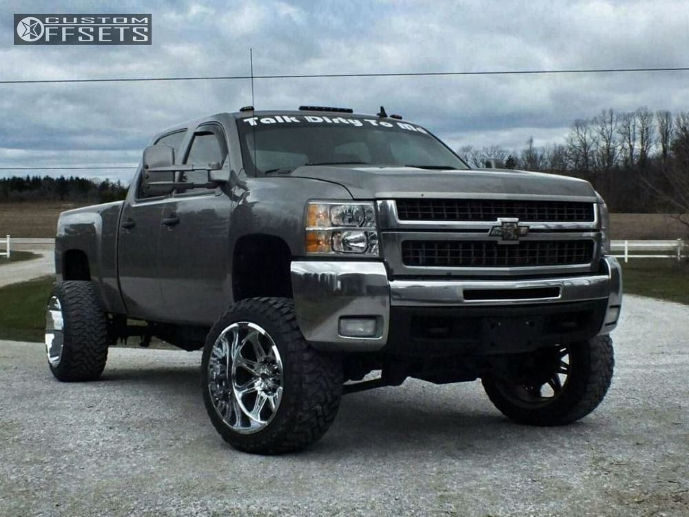 1 2008 Silverado 2500 Hd Chevrolet Suspension Lift 6 Hostile Havoc Chrome Hella Stance 5