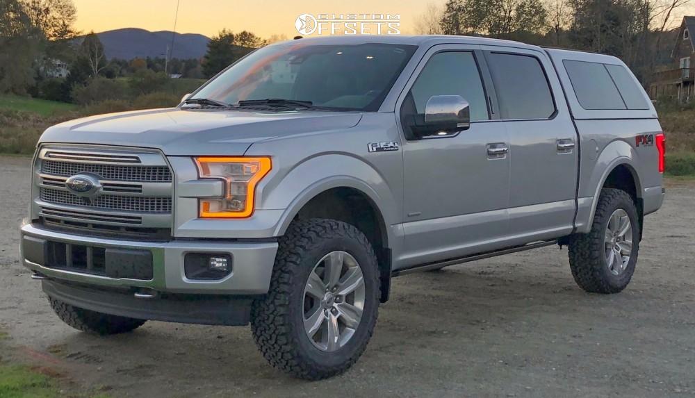 15 2017 F 150 Ford Halo Lift Suspension 3in Stock Platinum Rims Silver