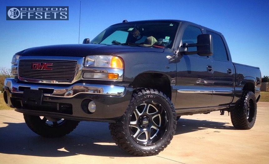 1 2005 Sierra 1500 Gmc Suspension Lift 45 Moto Metal Mo976 Black Super Aggressive 3 5