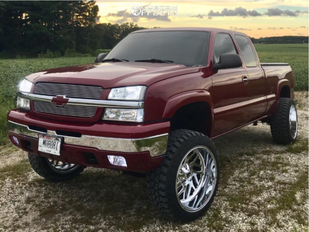 1 2004 Silverado 1500 Chevrolet Rough Country Suspension Lift 4in Fuel Triton Chrome
