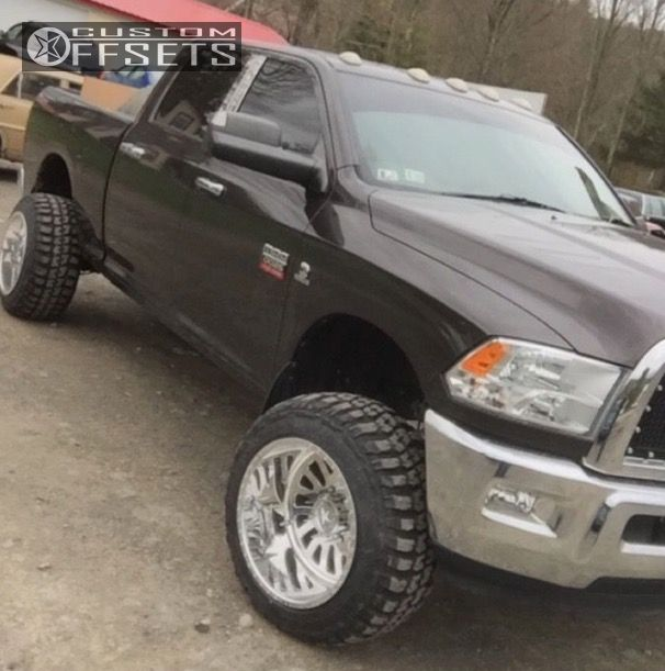 1 2010 Ram 2500 Dodge Suspension Lift 3 American Force 104 Polished Hella Stance 5