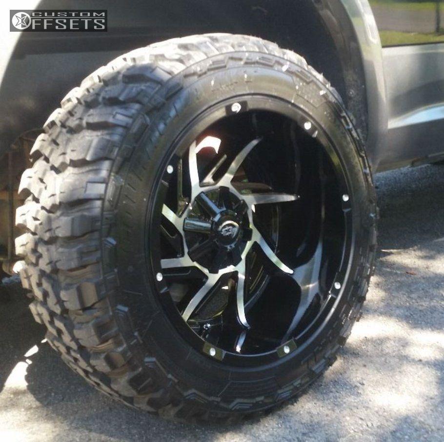 Wheel Offset 2012 Dodge Ram 1500 Leveling Kit Custom Rims Wheels 11 Vision Prowler Black